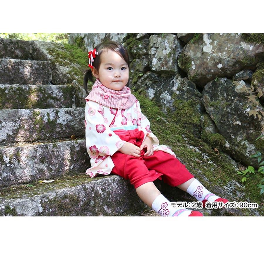 8e69a6fbba979 袴 カバーオール ロンパース ベビー 子供服 女の子 フォーマル 和服 長袖 ...