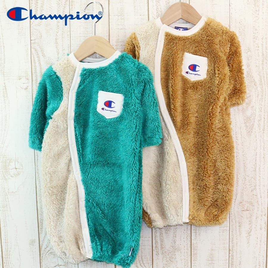 f16ff69e0de5c ベビー 赤ちゃん 子供服 チャンピオン 長袖 ツーウェイオール 兼用ドレス ...