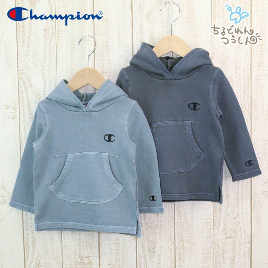 49695a568cc6f チャンピオン champion ベビー 赤ちゃん 子供服 パーカー かぶり ポケット 裏毛 製品染め加工 男の子