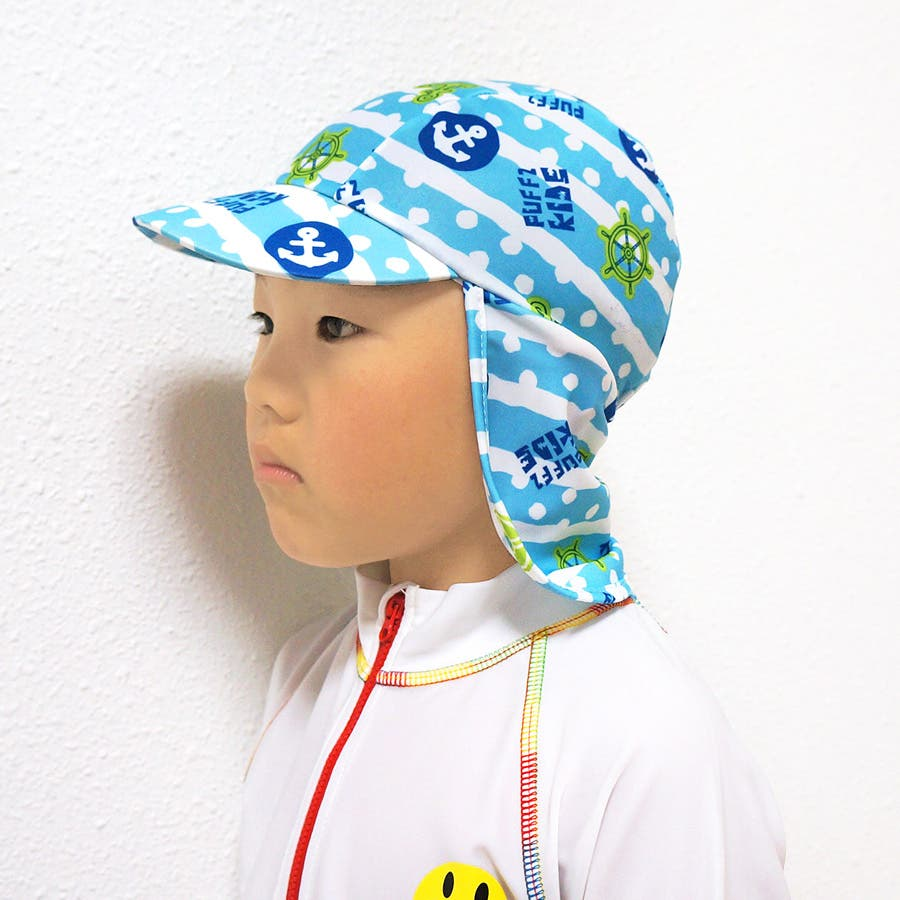 いい買い物! ベビー キッズ 子供服 帽子 水着 ラッシュキャップ 総柄 日焼け 紫外線 UV対策  服種その他   KIDSFASHIONSTATION  出産祝い ギフト  15夏   フリーサイズ 家畜