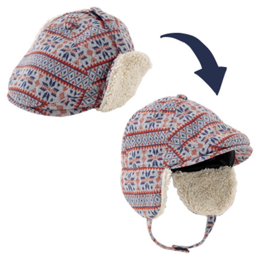 *ボンシュシュ*2WAYハンチング帽子【日本製】【ベビー】【秋冬】 2