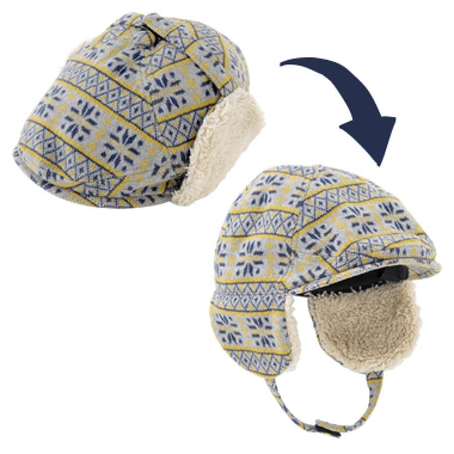 *ボンシュシュ*2WAYハンチング帽子【日本製】【ベビー】【秋冬】 3