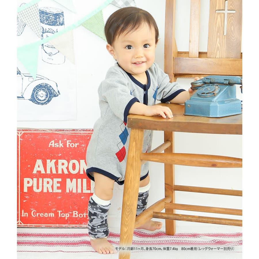 c83b16262cd チャックルベビーベビー服赤ちゃん服男の子女の子男児女児ロンパース前開きロンパース長袖ロンパース