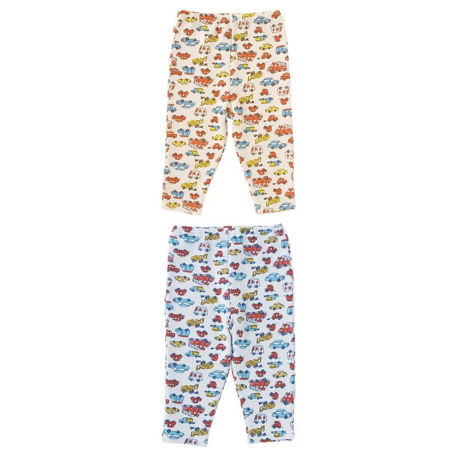 クルマ柄レギンス赤ちゃん 服 ベビー服 子供 下着 レギンスズボン パンツ チャックルベビー 2