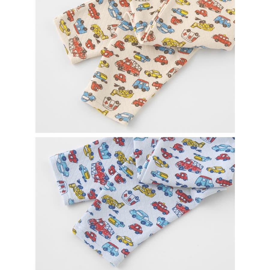 クルマ柄レギンス赤ちゃん 服 ベビー服 子供 下着 レギンスズボン パンツ チャックルベビー 3