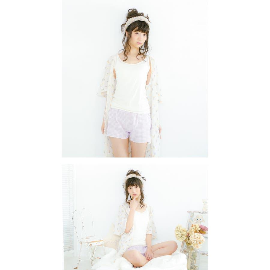 【日本製】Yuruneru KITENAI トランクス レディース 女性用 パンツ ショーツ 一分丈ショーツ 一分丈 1分丈ボックスショーツ おやすみパンツ タップパンツ 日本製 締め付けない ガーゼ 綿100% コットン100% ゆるねる M L LLU423 6