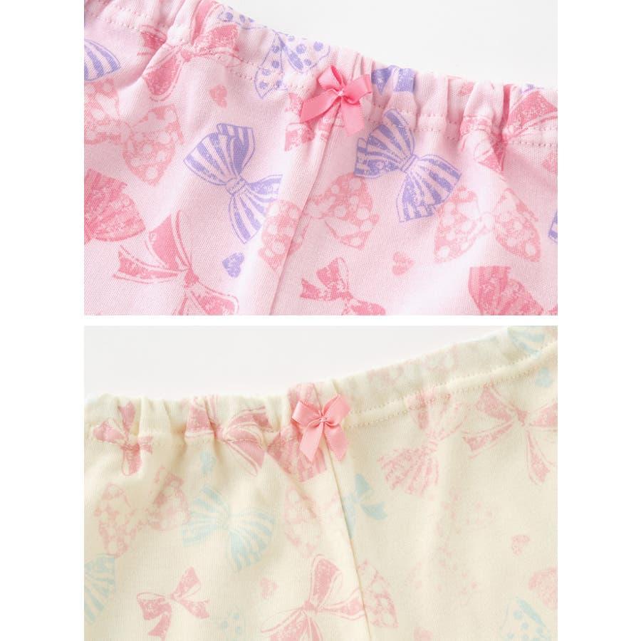 リボンいっぱいレギンス赤ちゃん 服 ベビー服 子供 下着 レギンス女の子 リボン柄 長ズボンスパッツ ズボン パンツ チャックルベビー 3