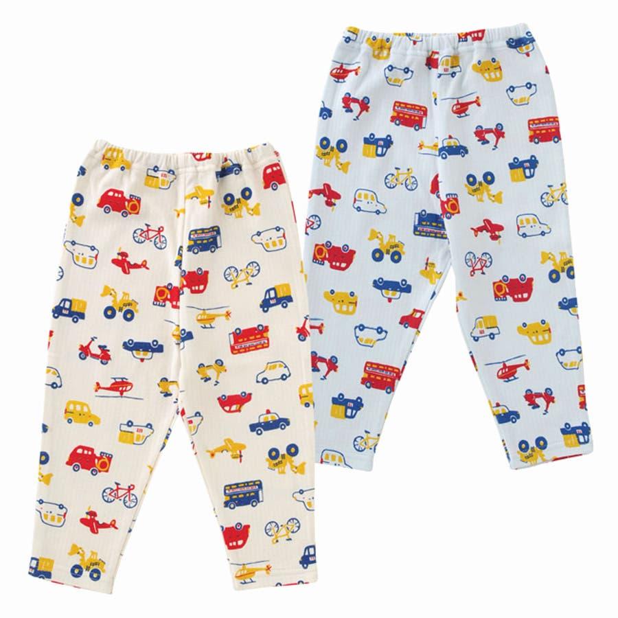 クルマいっぱいレギンス赤ちゃん 服 ベビー服 子供 下着 レギンス男の子 車柄 長ズボンスパッツ ズボン パンツ チャックルベビー 1