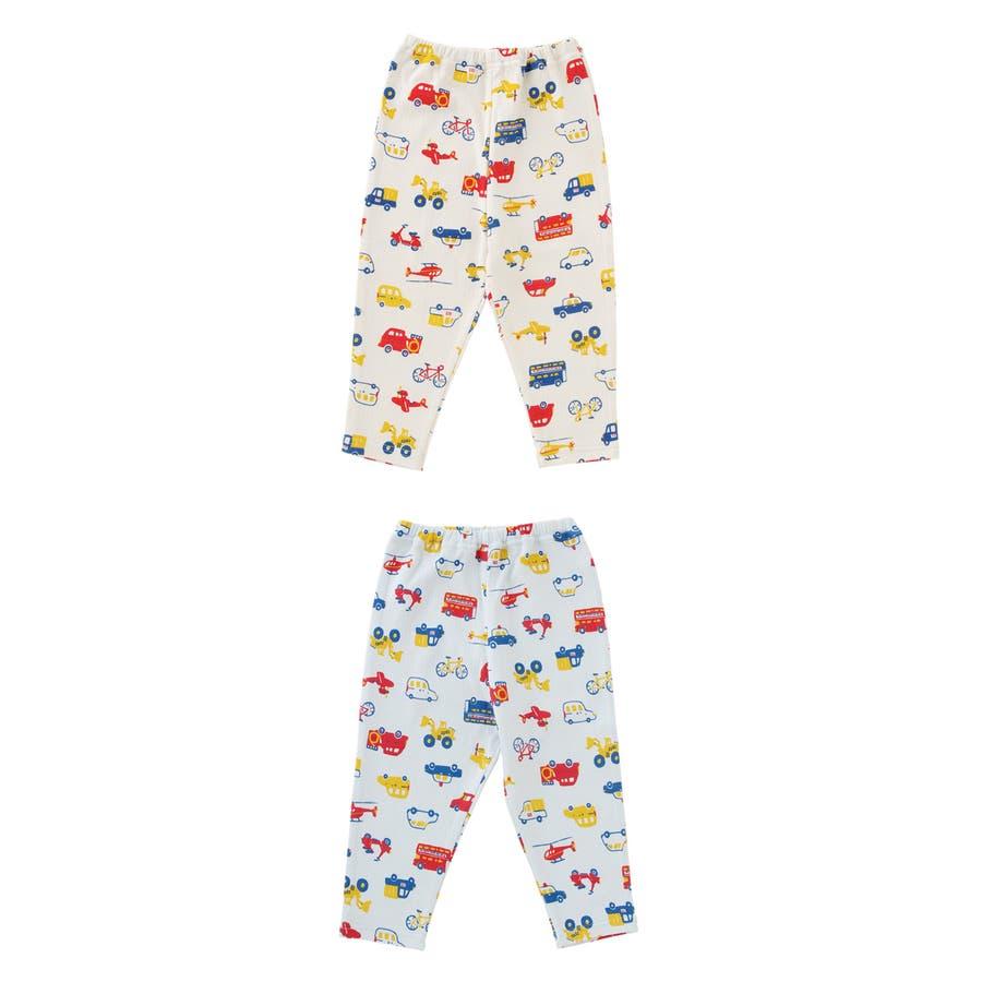 クルマいっぱいレギンス赤ちゃん 服 ベビー服 子供 下着 レギンス男の子 車柄 長ズボンスパッツ ズボン パンツ チャックルベビー 2