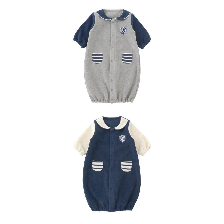 f2ecaa916007c 新生児服冬男の子カバーオールベビー服ツーウェイオール秋出産祝いギフトベビー服赤ちゃんドレスグレー