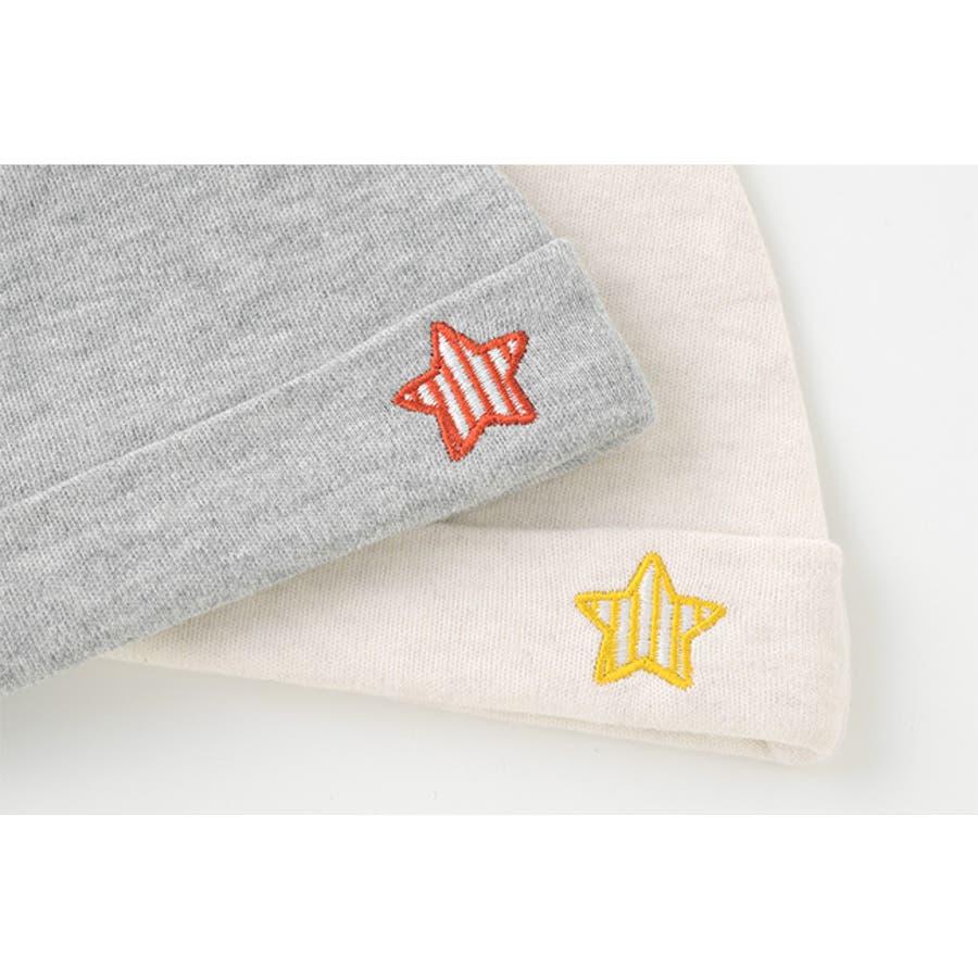 新生児 帽子 男の子 ベビー服 ベビー 服 出産祝い ギフト 秋 冬 赤ちゃん 星柄 グレー ベージュ P9271 チャックルベビーボンシュシュ 4