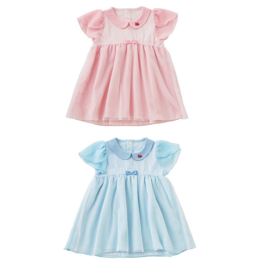 80fcc32508334 スウィートガールワンピースベビー服女の子夏半袖ワンピ出産祝いギフトプレゼントベビー服赤ちゃん結婚式