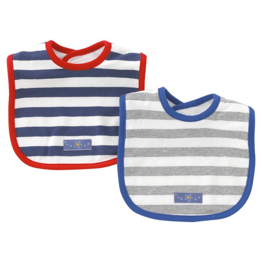 9b63289d3c2ba スタイ 2枚組 よだれかけ 男の子 女の子 出産祝い ギフト ビブ ボーダー ベビー服 赤ちゃん ベビー 服