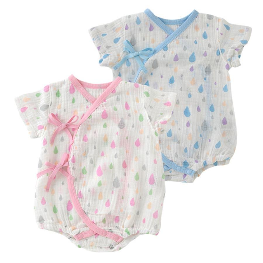 c7d04a99fb88d ロンパース ベビー服 男の子 女の子 春 夏 ガーゼ 出産祝い ベビー 赤ちゃん 服 子供 子供服 ロンパス