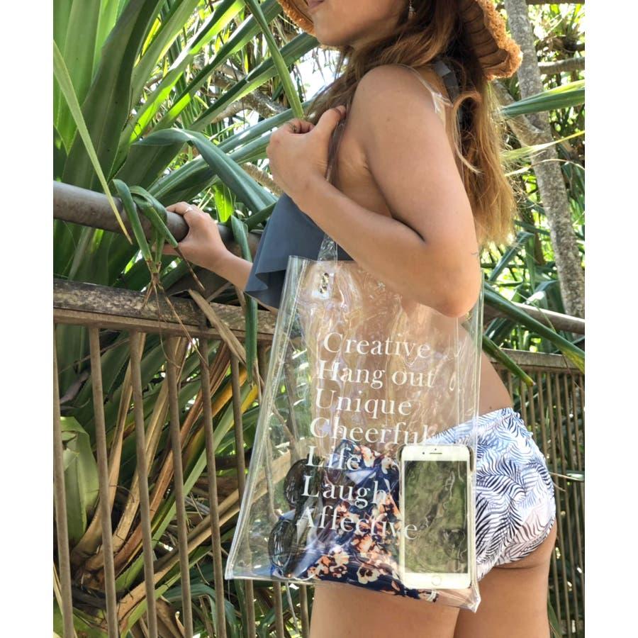 クリアバッグ オリジナル 透明 / レディース ファッション 夏 韓国 PVC PVCバッグ ハンドバックトートバッグオシャレかわいいシンプル ベーシック クリアバッグ 透明バッグ 水着バッグ プールバッグ cha77 108