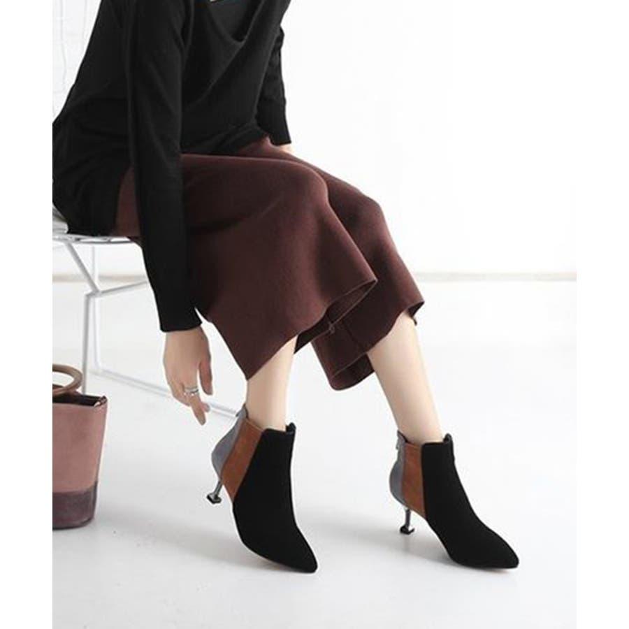 2019 レディース 黒 ブーツ ナチュラル 履きやすい ポインテッドトゥ ショートブーツ ヒール 靴 シューズ 大きいサイズ小さいサイズ 美脚 秋 冬 おしゃれ 可愛い シンプル ローヒール ブーティ スエード 歩きやすい 疲れにくい ブラック chw601 2
