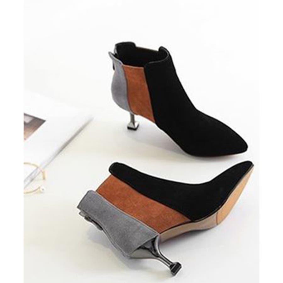 2019 レディース 黒 ブーツ ナチュラル 履きやすい ポインテッドトゥ ショートブーツ ヒール 靴 シューズ 大きいサイズ小さいサイズ 美脚 秋 冬 おしゃれ 可愛い シンプル ローヒール ブーティ スエード 歩きやすい 疲れにくい ブラック chw601 5