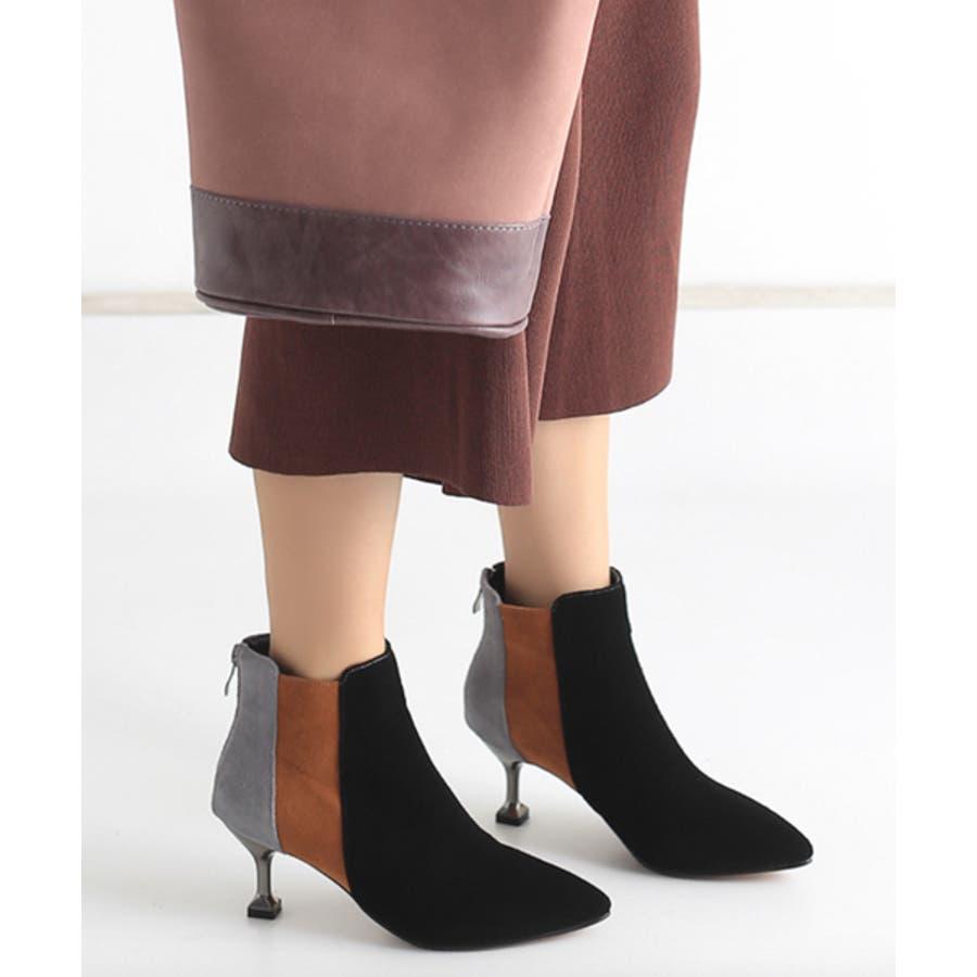 2019 レディース 黒 ブーツ ナチュラル 履きやすい ポインテッドトゥ ショートブーツ ヒール 靴 シューズ 大きいサイズ小さいサイズ 美脚 秋 冬 おしゃれ 可愛い シンプル ローヒール ブーティ スエード 歩きやすい 疲れにくい ブラック chw601 21