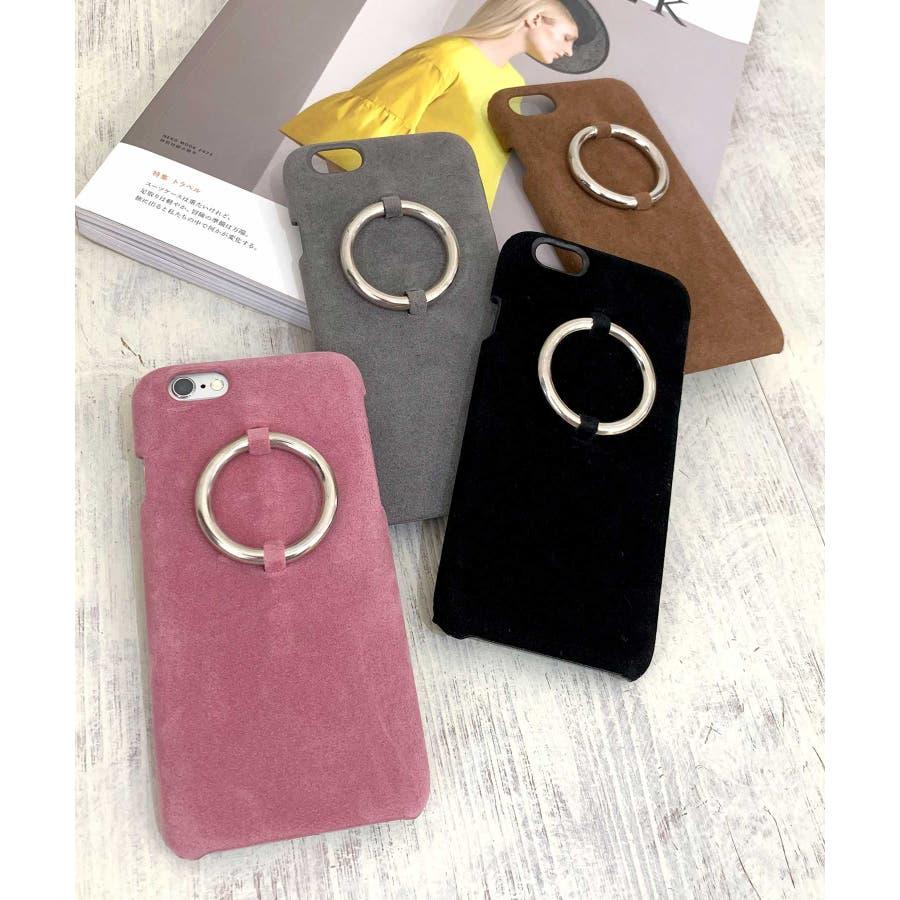 スマホケース iPhone7 iPhone8 iPhonex iPhone ケース iPhone6 6 6Plus 7 7Plus88Plus スマホケース x iPhoneケース iphoneカバー かわいい スマホケース スマホカバー おしゃれレザー風スエード調 リングデザイン ブラック ピンク SE2 ipc81 1