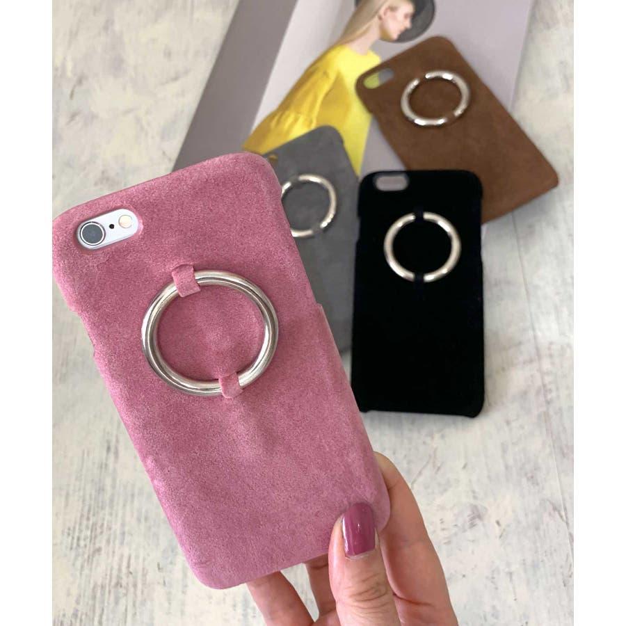 スマホケース iPhone7 iPhone8 iPhonex iPhone ケース iPhone6 6 6Plus 7 7Plus88Plus スマホケース x iPhoneケース iphoneカバー かわいい スマホケース スマホカバー おしゃれレザー風スエード調 リングデザイン ブラック ピンク SE2 ipc81 2