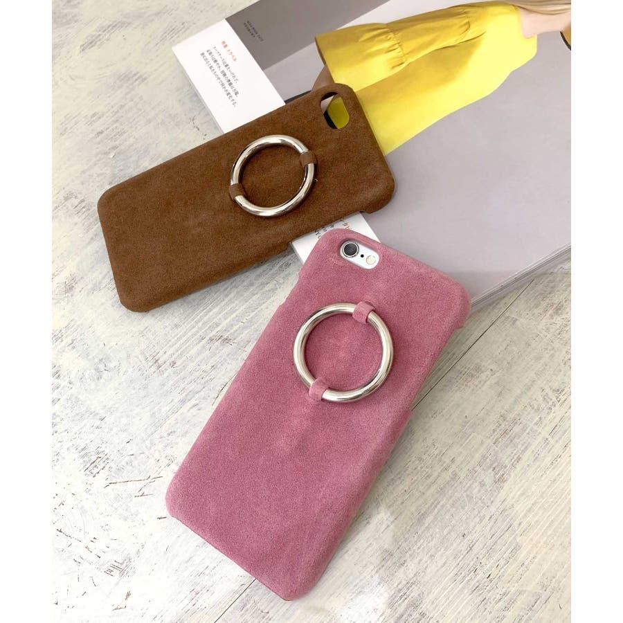 スマホケース iPhone7 iPhone8 iPhonex iPhone ケース iPhone6 6 6Plus 7 7Plus88Plus スマホケース x iPhoneケース iphoneカバー かわいい スマホケース スマホカバー おしゃれレザー風スエード調 リングデザイン ブラック ピンク SE2 ipc81 3