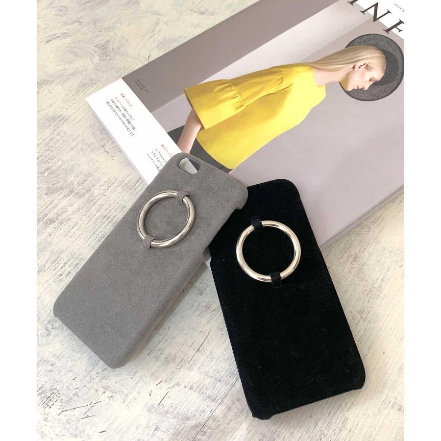 スマホケース iPhone7 iPhone8 iPhonex iPhone ケース iPhone6 6 6Plus 7 7Plus88Plus スマホケース x iPhoneケース iphoneカバー かわいい スマホケース スマホカバー おしゃれレザー風スエード調 リングデザイン ブラック ピンク SE2 ipc81 4