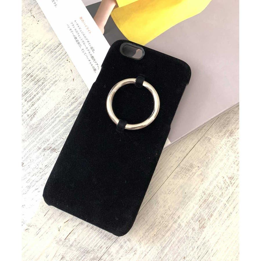 スマホケース iPhone7 iPhone8 iPhonex iPhone ケース iPhone6 6 6Plus 7 7Plus88Plus スマホケース x iPhoneケース iphoneカバー かわいい スマホケース スマホカバー おしゃれレザー風スエード調 リングデザイン ブラック ピンク SE2 ipc81 21