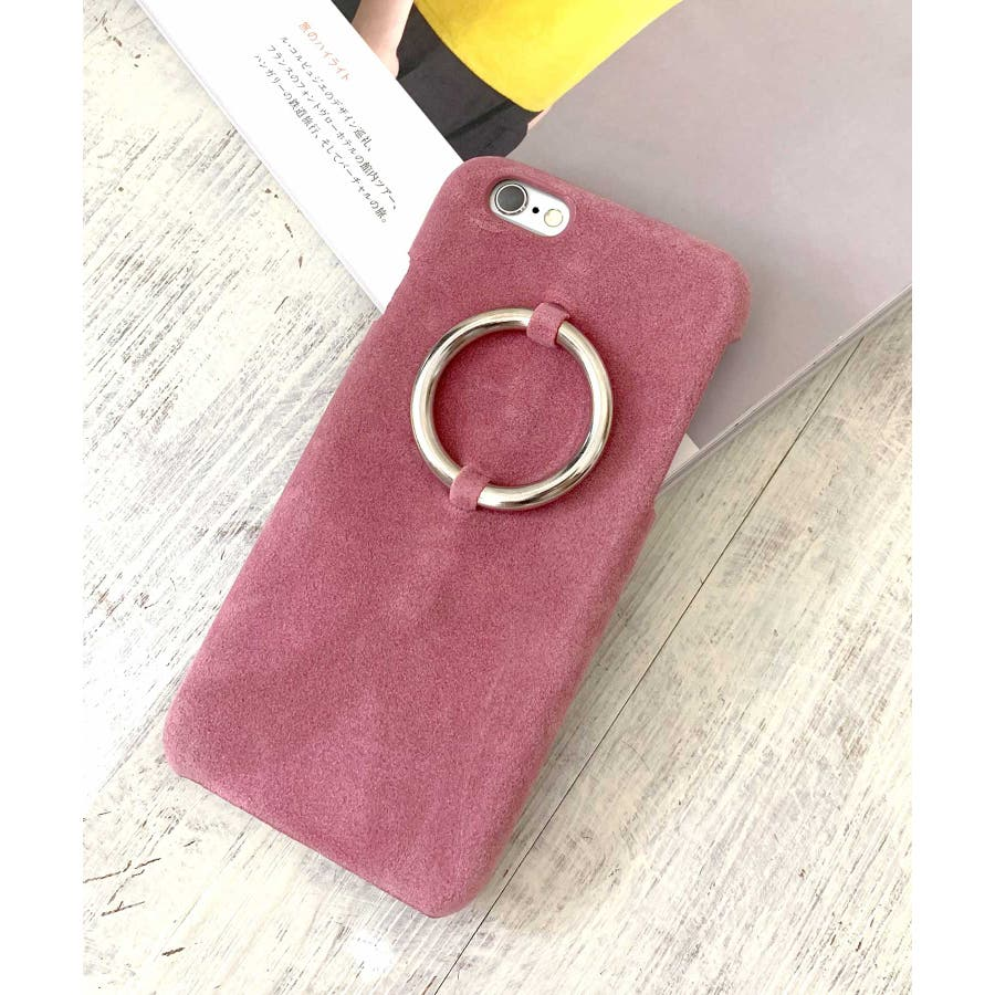 スマホケース iPhone7 iPhone8 iPhonex iPhone ケース iPhone6 6 6Plus 7 7Plus88Plus スマホケース x iPhoneケース iphoneカバー かわいい スマホケース スマホカバー おしゃれレザー風スエード調 リングデザイン ブラック ピンク SE2 ipc81 124