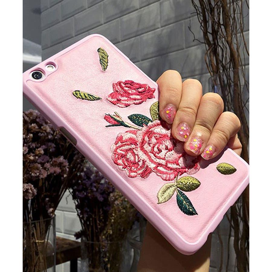 スマホケース iPhone7 iPhone8 iPhonex iPhone ケース iPhone6 6 6Plus 7 7Plus88Plus スマホケース x iPhoneケース アイフォン かわいい スマホカバー おしゃれ お花 ハイビスカス バラ 刺繍SE2 ipc91 3