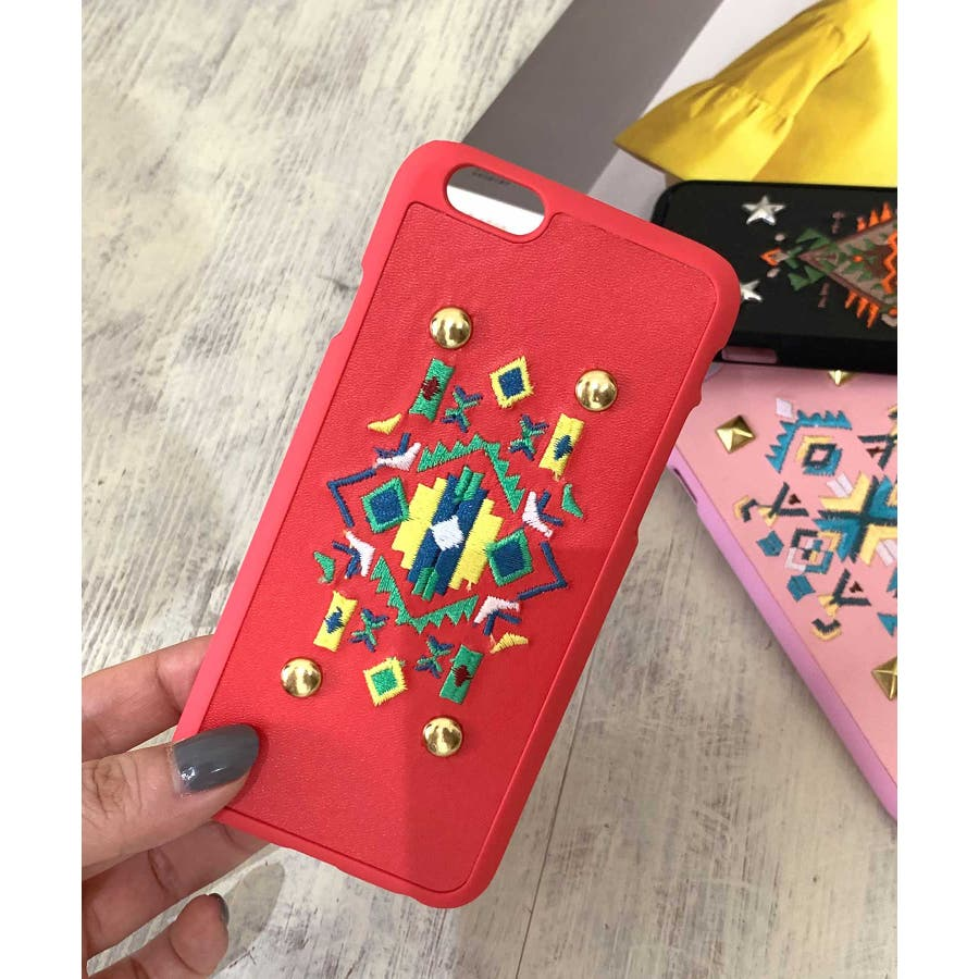 スマホケース iPhone7 iPhone8 iPhonex iPhone ケース iPhone6 6 6Plus 7 7Plus88Plus スマホケース x iPhoneケース iphoneカバー ブラック かわいい オルテガ柄 スマホカバー おしゃれ 刺繍SE2 ipc92 3