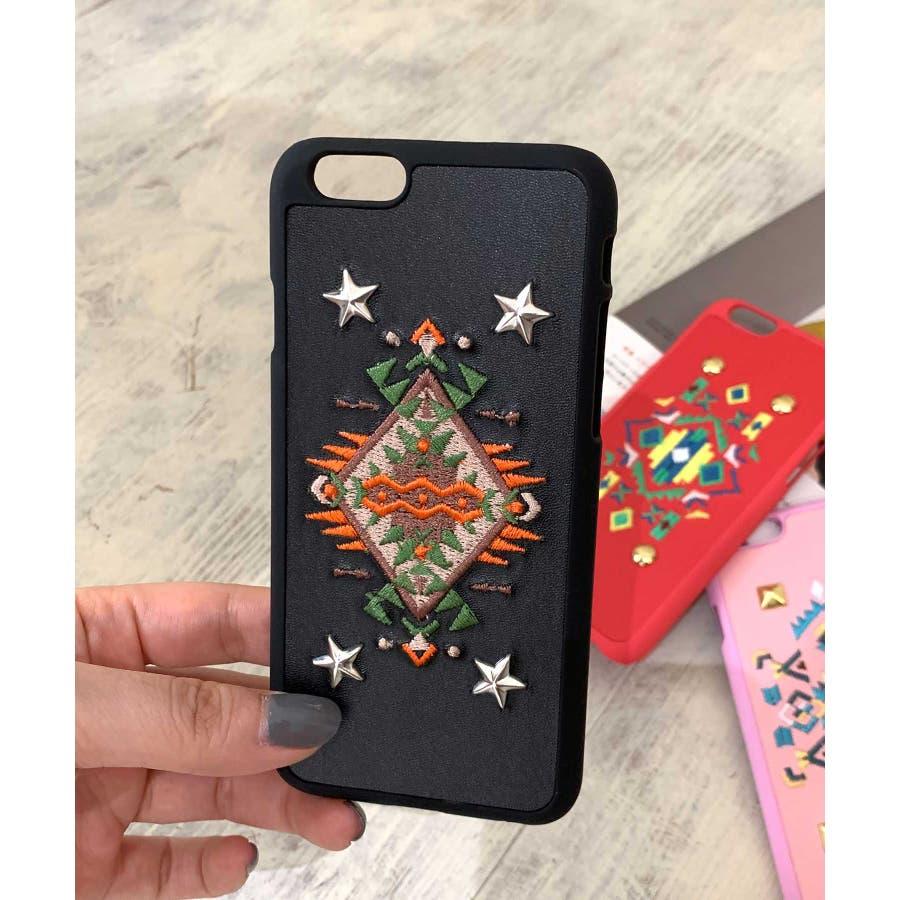 スマホケース iPhone7 iPhone8 iPhonex iPhone ケース iPhone6 6 6Plus 7 7Plus88Plus スマホケース x iPhoneケース iphoneカバー ブラック かわいい オルテガ柄 スマホカバー おしゃれ 刺繍SE2 ipc92 4