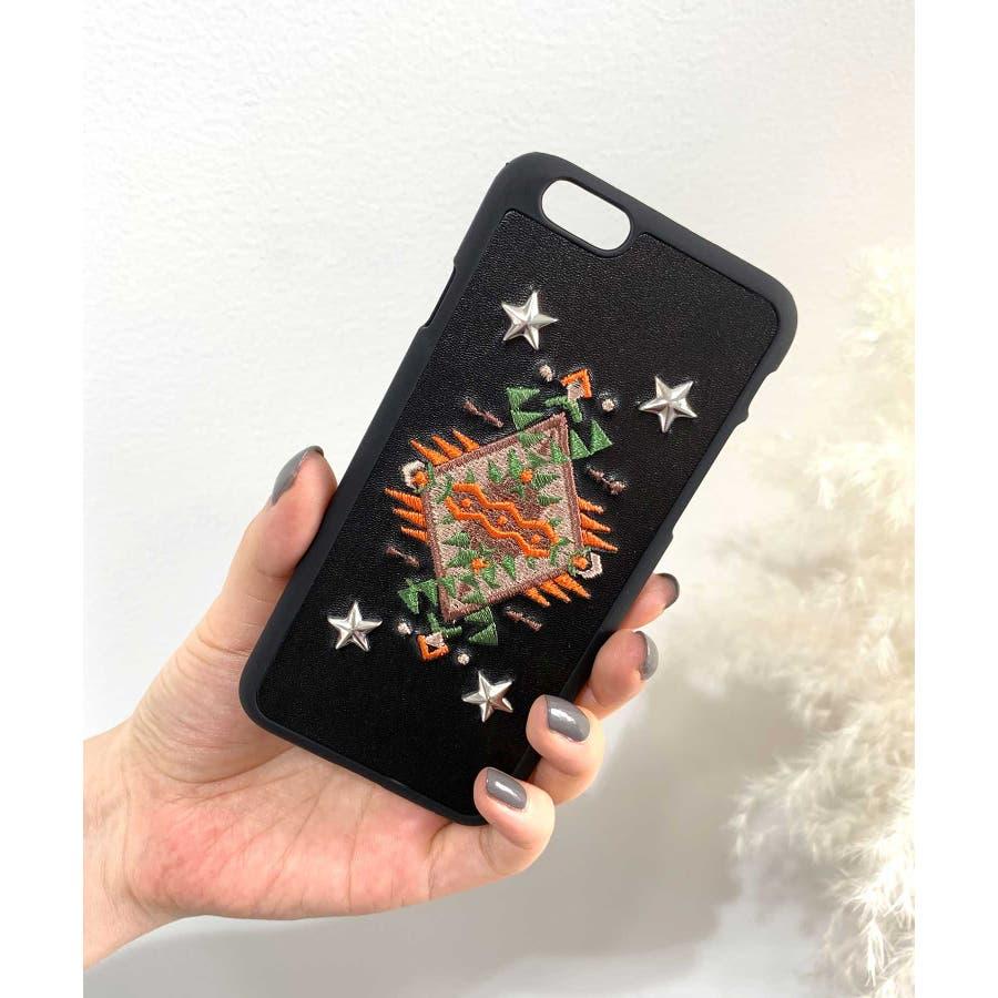 スマホケース iPhone7 iPhone8 iPhonex iPhone ケース iPhone6 6 6Plus 7 7Plus88Plus スマホケース x iPhoneケース iphoneカバー ブラック かわいい オルテガ柄 スマホカバー おしゃれ 刺繍SE2 ipc92 21