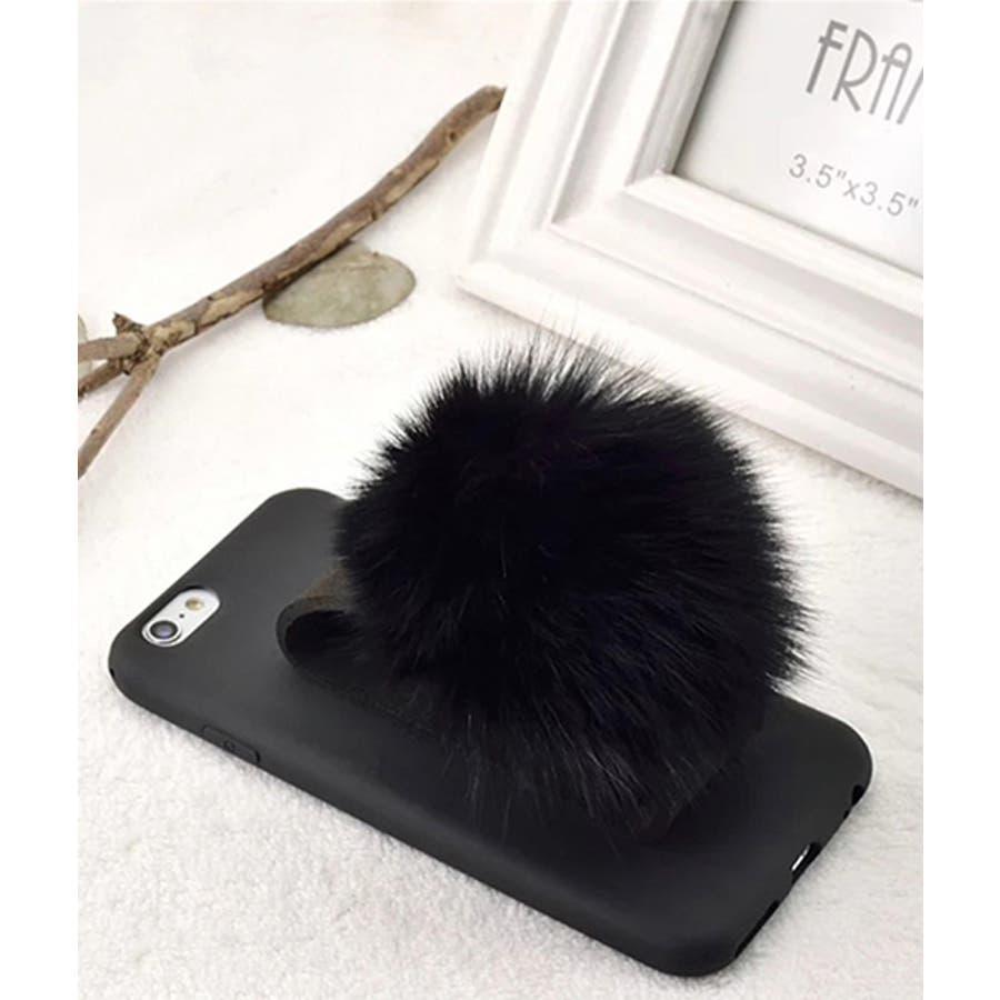 スマホケース iPhone7 iPhone8 iPhonex iPhone ケース iPhone6 6 6Plus 7 7Plus 88Plus スマホケース x iPhoneケース iphoneカバー かわいい スマホカバー おしゃれ ブラック ふわふわ ファー落下防止 ベルトストラップ SE2 ipc151 21