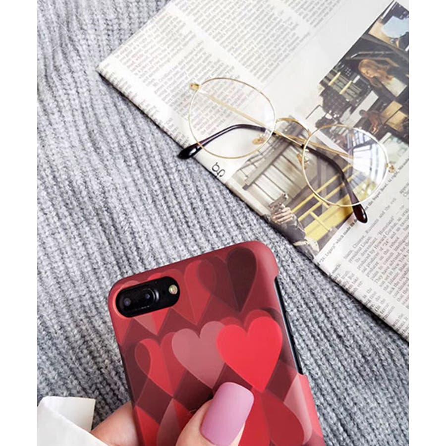 スマホケース iPhone7 iPhone8 iPhonex iPhone ケース iPhone6 6 6Plus 7 7Plus88Plus スマホケース x iPhoneケース iphoneカバー かわいい スマホカバー おしゃれ シックレッドピンクグラデーション グラデ ハート ランダムハート SE2 ipc152 3