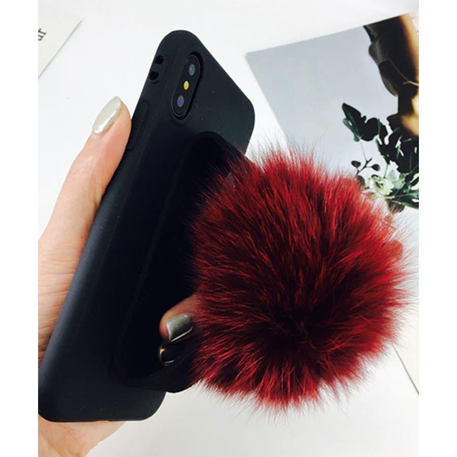スマホケース iPhone7 iPhone8 iPhonex iPhone ケース iPhone6 6 6Plus 7 7Plus 88Plus スマホケース x iPhoneケース iphoneカバー かわいい スマホカバー おしゃれ ブラック ふわふわファー落下防止 ベルトストラップ SE2 ipc155 2