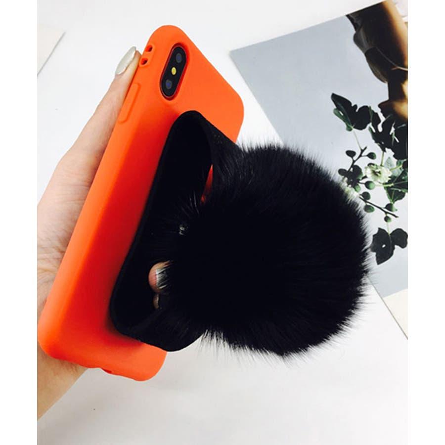 スマホケース iPhone7 iPhone8 iPhonex iPhone ケース iPhone6 6 6Plus 7 7Plus 88Plus スマホケース x iPhoneケース iphoneカバー かわいい スマホカバー おしゃれ ブラック ふわふわファー落下防止 ベルトストラップ SE2 ipc155 3