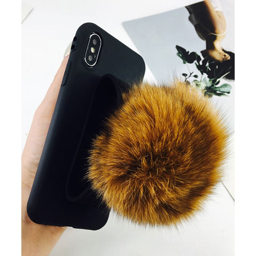 スマホケース iPhone7 iPhone8 iPhonex iPhone ケース iPhone6 6 6Plus 7 7Plus 88Plus スマホケース x iPhoneケース iphoneカバー かわいい スマホカバー おしゃれ ブラック ふわふわファー落下防止 ベルトストラップ SE2 ipc155 5