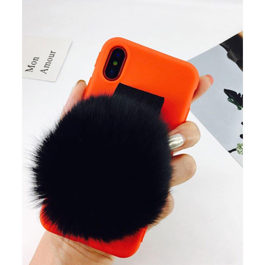 スマホケース iPhone7 iPhone8 iPhonex iPhone ケース iPhone6 6 6Plus 7 7Plus 88Plus スマホケース x iPhoneケース iphoneカバー かわいい スマホカバー おしゃれ ブラック ふわふわファー落下防止 ベルトストラップ SE2 ipc155 21