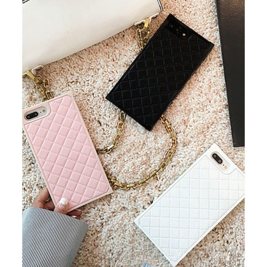 スマホケース iPhone7 iPhone8 iPhonex iPhone ケース iPhone6 6 6Plus 7 7Plus 88Plus スマホケース x iPhoneケース iphoneカバー かわいい スマホケース スマホカバー おしゃれ スクエアキルティング 四角 レザー調 ピンク ブラック ホワイト SE2 ipc164 1