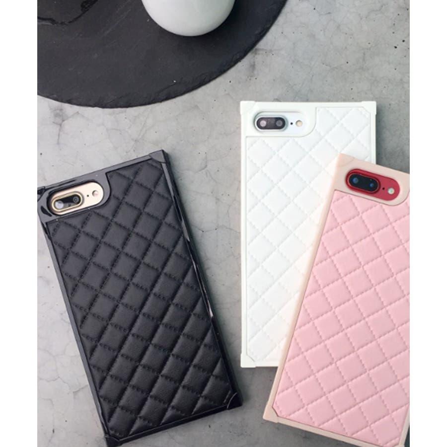 スマホケース iPhone7 iPhone8 iPhonex iPhone ケース iPhone6 6 6Plus 7 7Plus 88Plus スマホケース x iPhoneケース iphoneカバー かわいい スマホケース スマホカバー おしゃれ スクエアキルティング 四角 レザー調 ピンク ブラック ホワイト SE2 ipc164 2