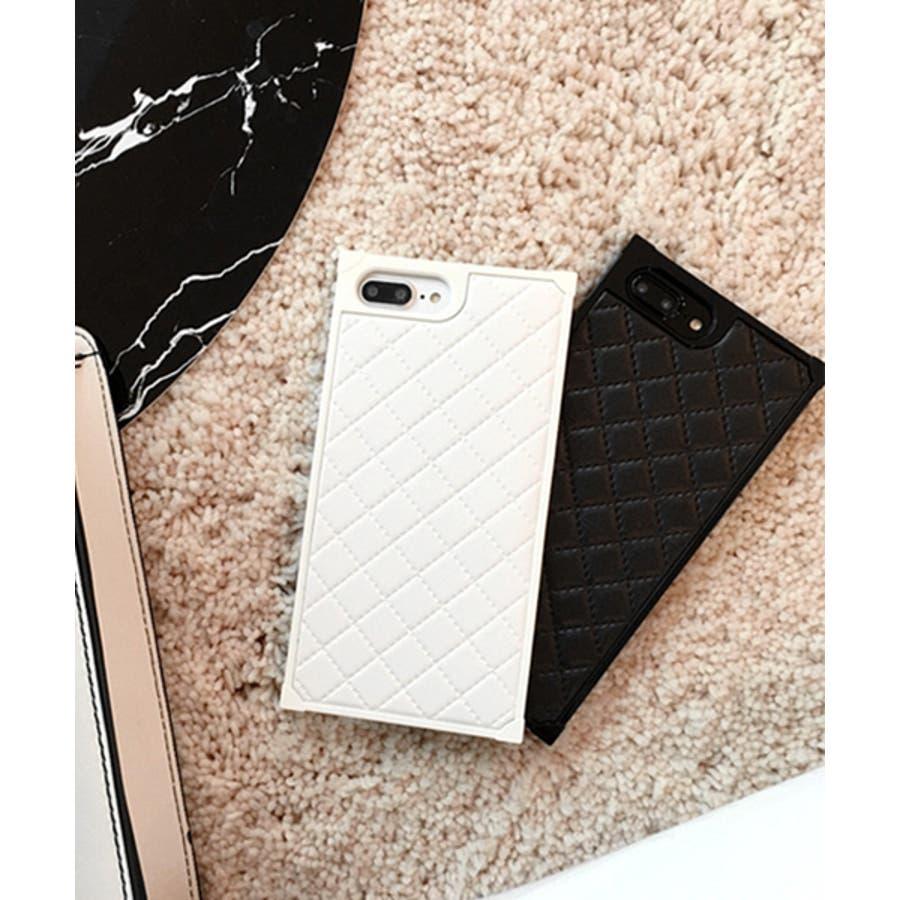 スマホケース iPhone7 iPhone8 iPhonex iPhone ケース iPhone6 6 6Plus 7 7Plus 88Plus スマホケース x iPhoneケース iphoneカバー かわいい スマホケース スマホカバー おしゃれ スクエアキルティング 四角 レザー調 ピンク ブラック ホワイト SE2 ipc164 3