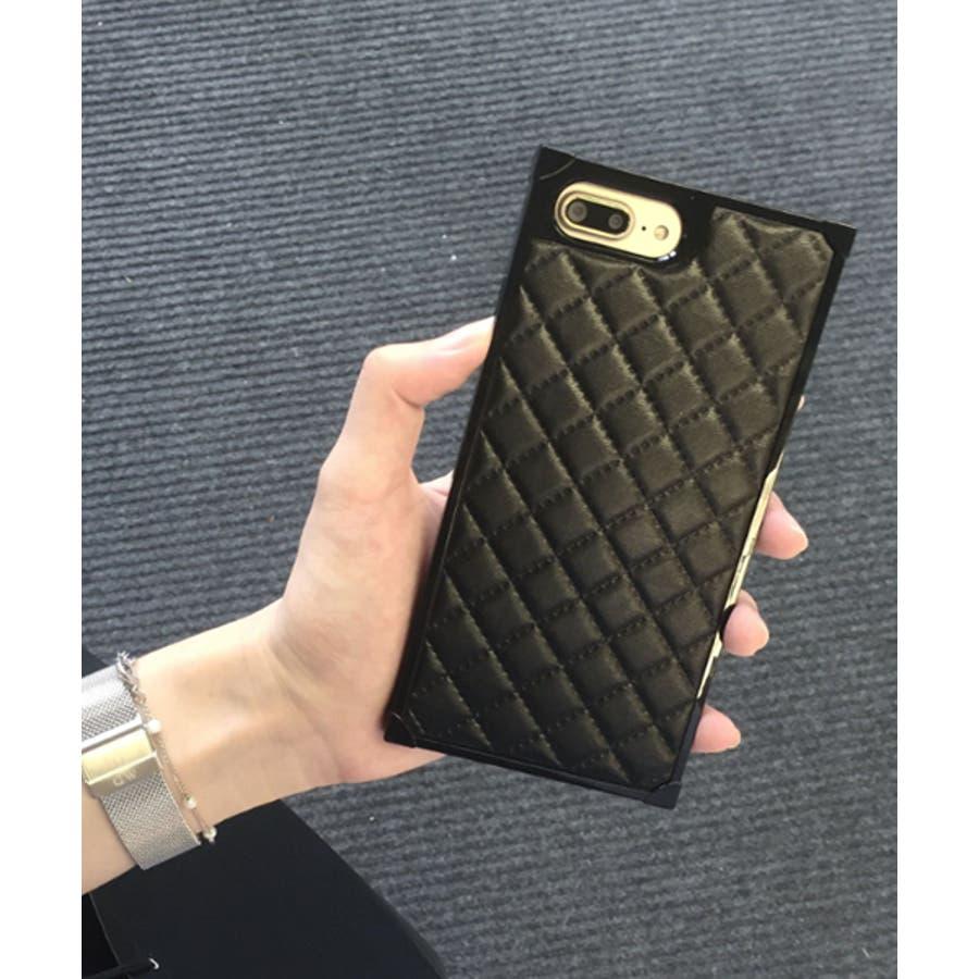 スマホケース iPhone7 iPhone8 iPhonex iPhone ケース iPhone6 6 6Plus 7 7Plus 88Plus スマホケース x iPhoneケース iphoneカバー かわいい スマホケース スマホカバー おしゃれ スクエアキルティング 四角 レザー調 ピンク ブラック ホワイト SE2 ipc164 4