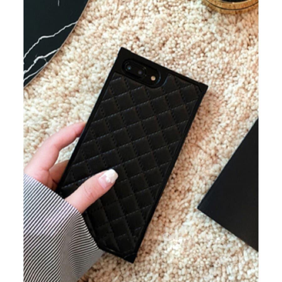 スマホケース iPhone7 iPhone8 iPhonex iPhone ケース iPhone6 6 6Plus 7 7Plus 88Plus スマホケース x iPhoneケース iphoneカバー かわいい スマホケース スマホカバー おしゃれ スクエアキルティング 四角 レザー調 ピンク ブラック ホワイト SE2 ipc164 21