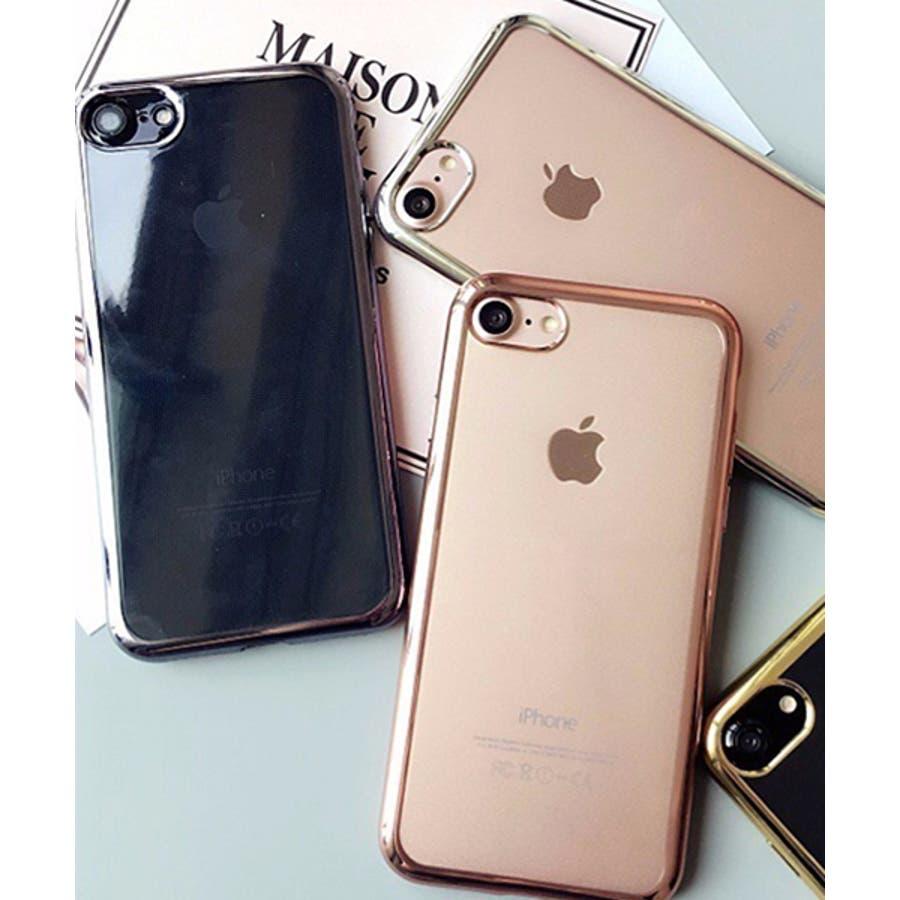 スマホケース iPhone7 iPhone8 iPhonex iPhone ケース iPhone6 6 6Plus 7 7Plus88Plus スマホケース x iPhoneケース iphoneカバー かわいい スマホケース スマホカバー おしゃれバンパー風背面クリア メタリック SE2 ipc169 2