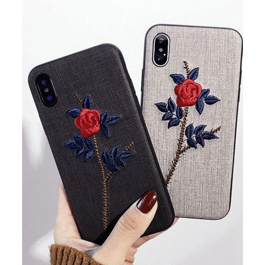 スマホケース iPhone7 iPhone8 iPhonex iPhone ケース iPhone6 6 6Plus 7 7Plus88Plus スマホケース x iPhoneケース アイフォン かわいい スマホケース スマホカバー おしゃれ お花 バラ 刺繍SE2ipc172 1