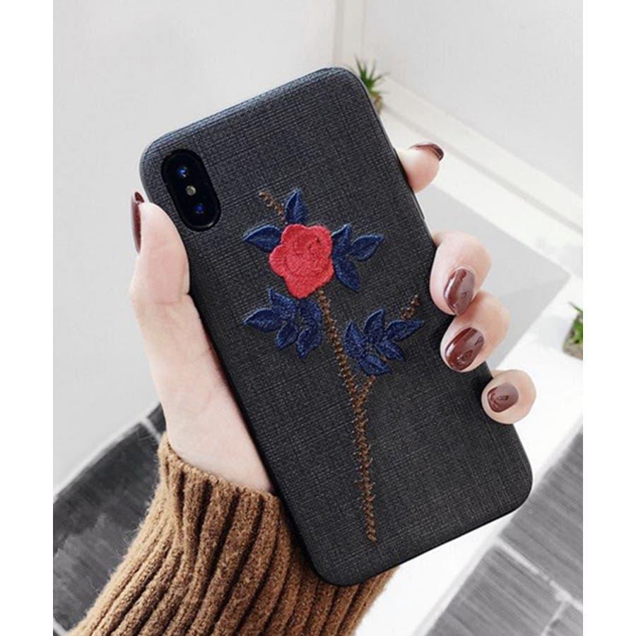 スマホケース iPhone7 iPhone8 iPhonex iPhone ケース iPhone6 6 6Plus 7 7Plus88Plus スマホケース x iPhoneケース アイフォン かわいい スマホケース スマホカバー おしゃれ お花 バラ 刺繍SE2ipc172 2