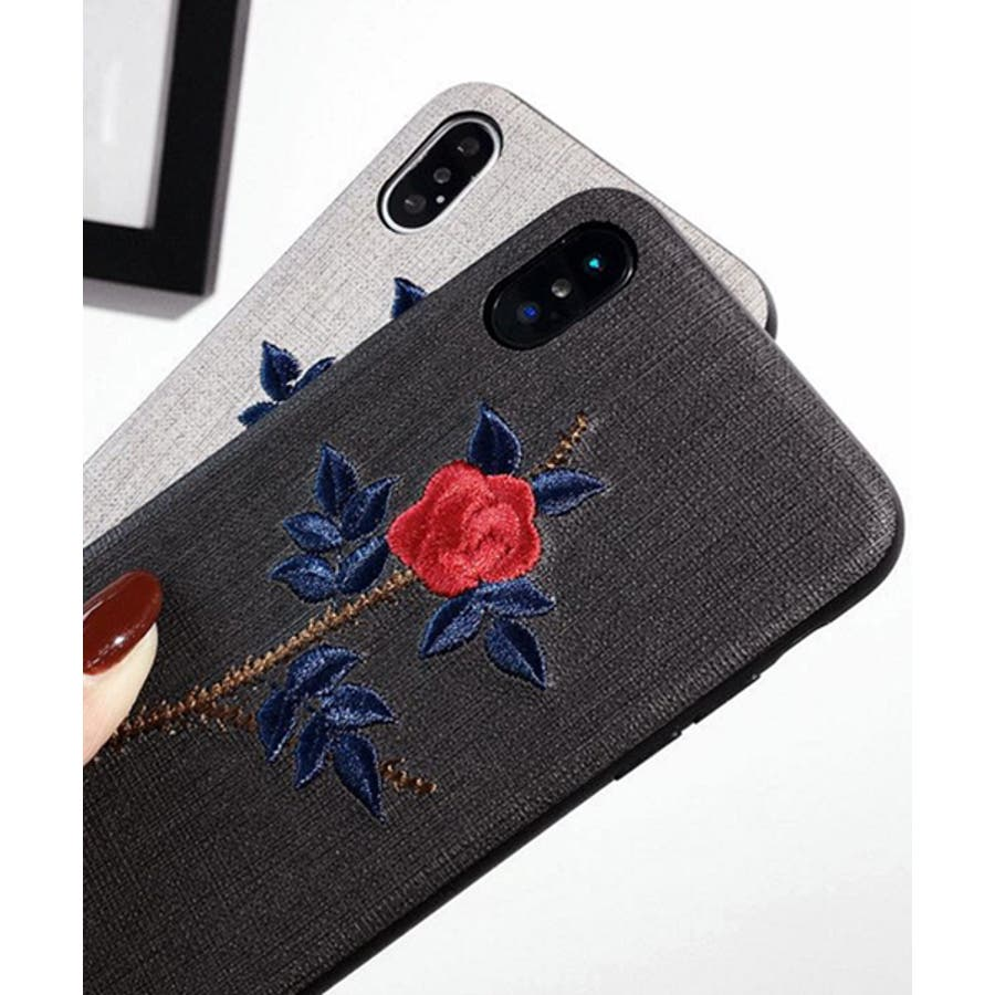 スマホケース iPhone7 iPhone8 iPhonex iPhone ケース iPhone6 6 6Plus 7 7Plus88Plus スマホケース x iPhoneケース アイフォン かわいい スマホケース スマホカバー おしゃれ お花 バラ 刺繍SE2ipc172 3