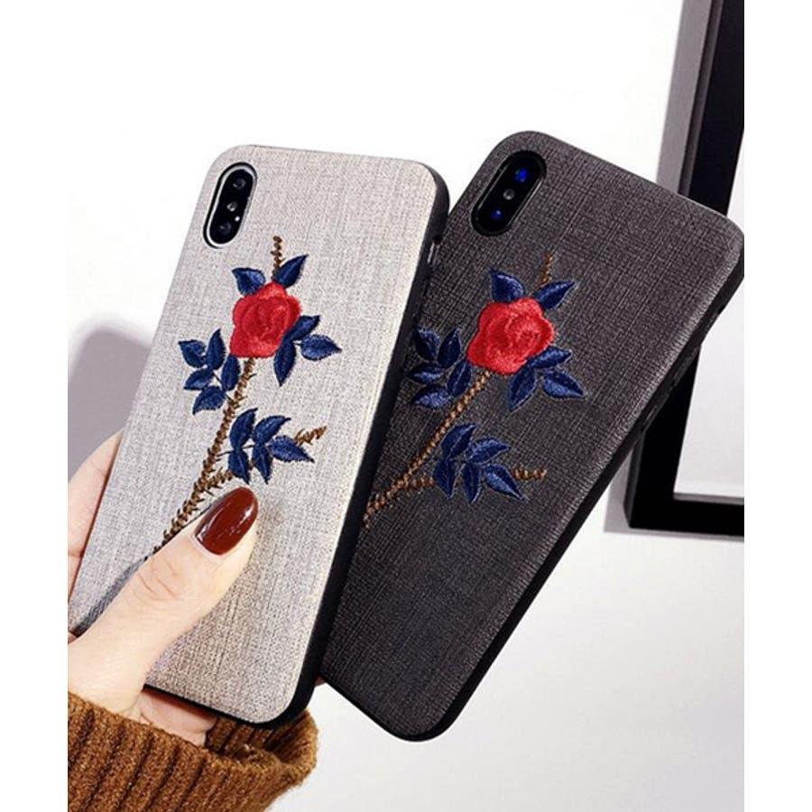 スマホケース iPhone7 iPhone8 iPhonex iPhone ケース iPhone6 6 6Plus 7 7Plus88Plus スマホケース x iPhoneケース アイフォン かわいい スマホケース スマホカバー おしゃれ お花 バラ 刺繍SE2ipc172 4
