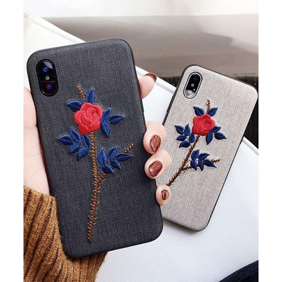 スマホケース iPhone7 iPhone8 iPhonex iPhone ケース iPhone6 6 6Plus 7 7Plus88Plus スマホケース x iPhoneケース アイフォン かわいい スマホケース スマホカバー おしゃれ お花 バラ 刺繍SE2ipc172 7