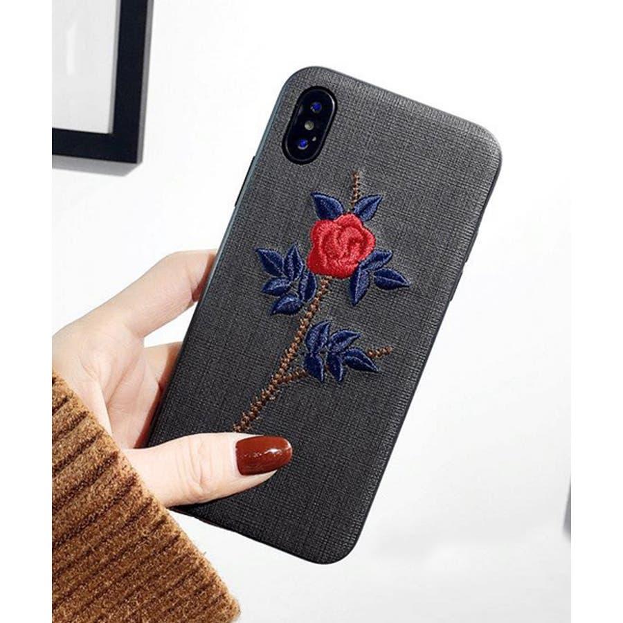 スマホケース iPhone7 iPhone8 iPhonex iPhone ケース iPhone6 6 6Plus 7 7Plus88Plus スマホケース x iPhoneケース アイフォン かわいい スマホケース スマホカバー おしゃれ お花 バラ 刺繍SE2ipc172 31